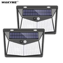 WAKYME-Luz LED Solar para exteriores, colector Solar con Sensor de luz por movimiento PIR, luz de jardín de seguridad impermeable, alimentada por energía Solar, 208