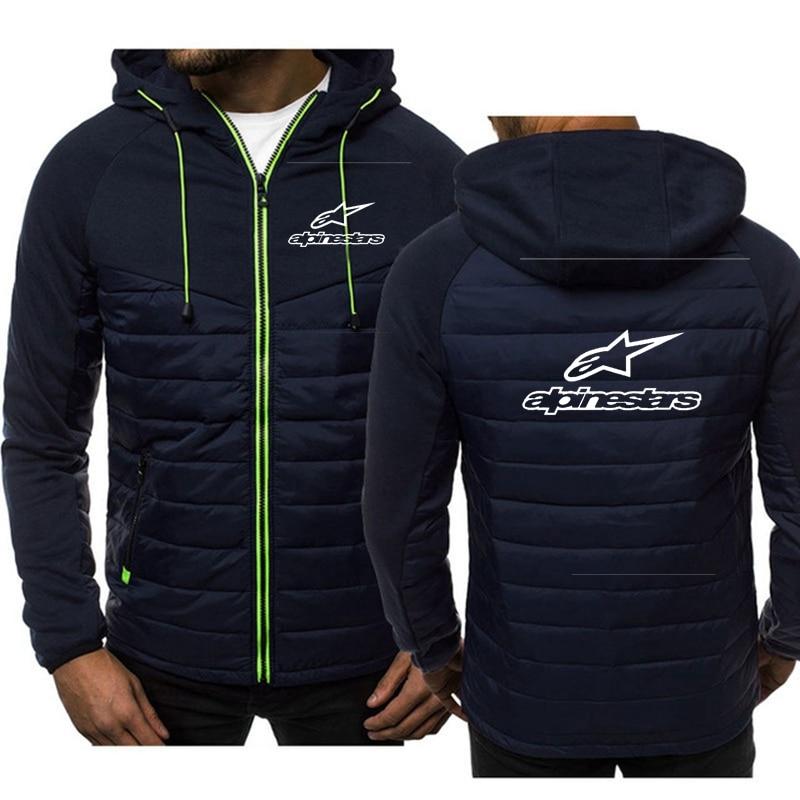 2020 Alpine Star New Casual felpa con cappuccio da uomo giacca con cappuccio con zip giacca da uomo in Cardigan Patchwork giacca invernale in felpa con stella alpina