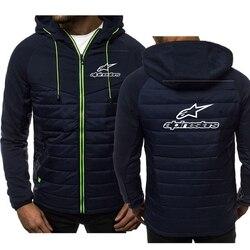 2020 alpine star nova masculina casual hoodie com capuz zip jaqueta masculina retalhos cardigan casaco de inverno alpinestars moletom