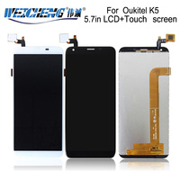 WEICHENG 720*1440 עבור Oukitel K5 תצוגת LCD והרכבת מסך מגע נייד טלפון אביזרי עבור K5 lcd + משלוח כלים + דבק