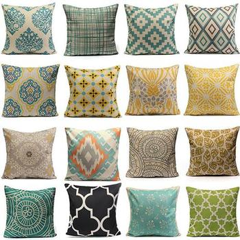 Classic Geometric Pattern 45cm Square Pillowcase Living Room Decorative Throw Pillow Case Sofa Office Chair Car Seat Pillowslip image