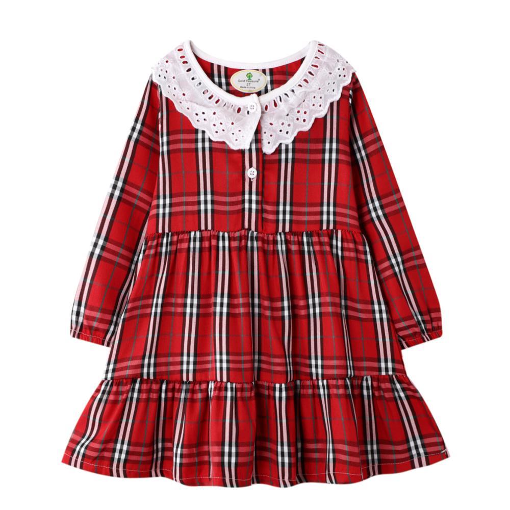 Kids Girl Long Sleeve dress Princess Children Clothing Kid's Party Dress Baby Clothings