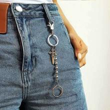 Цепочка брелок в стиле панк/хип хоп для брюк