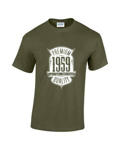 Aged To Perfection Born In 1959 60th Birthday/Gift Mens Printed T-Shirt(China)