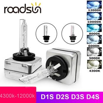 цена на roadsun 12V 35W D1S D2S D3S D4S HID Xenon headlight bulb D1R D2R D3R D4R CBI HID Xenon lamp 3000K 4300K 5000K 6000K 8000K 10000K