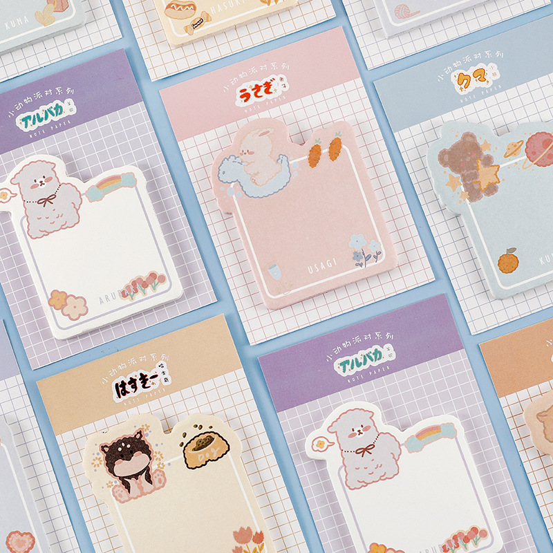 : Mohamm мультфильм наклейка в форме животных закладки, памятки коврик липкой бумаги Страница флаги селфи-Палка с Tab Закладка для книги