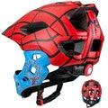 KINGBIKE, детский шлем, детский шлем с полным лицевым покрытием, велосипедный шлем для детей, катания на коньках, скутер, спортивный шлем для под...