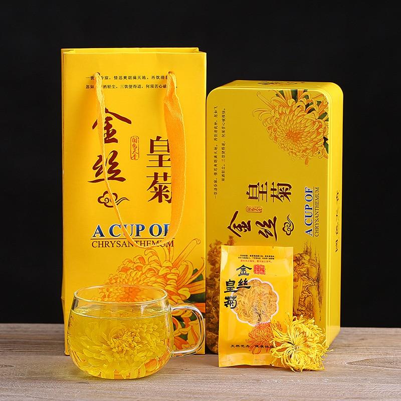Jiangxi Xiushui golden silk chrysanthemum tea wholesale a cup of Dahuang chrysanthemum health tea gift box set 20 packets in box 1