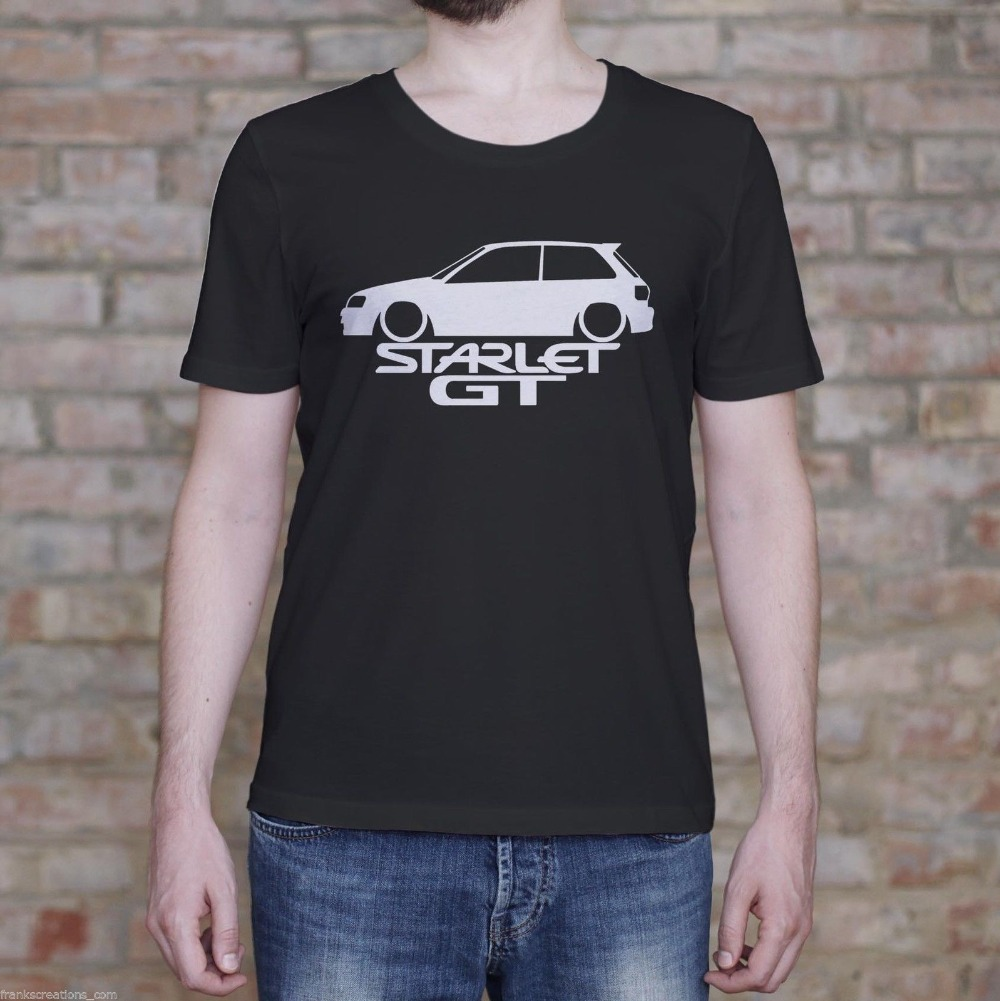 2019 Newest Fashion Starlet GT Shirt. Fast EP82 Turbo Classic Gift Men's T-Shirt Men'S High Quality Tees