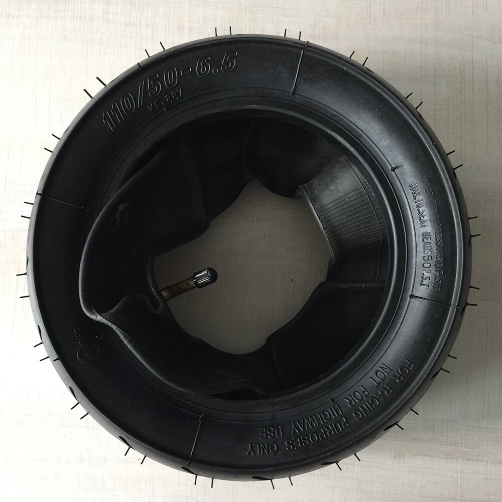 Rear Tubeless Tire 110/50 6.5 49cc Electric Scooter Mini Moto Dirt Bike Tyres Electric Scooter Accessories with Tube 110 50 6.5|rear scooter tire|scooter tire|scooter rear tire - title=