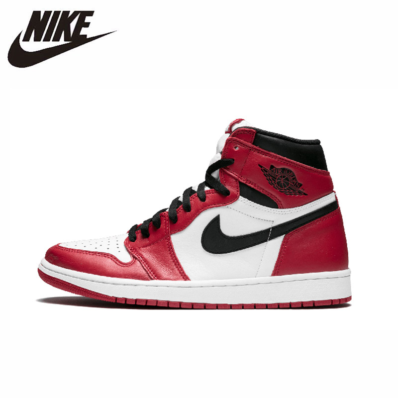 Nike Air Jordan 1 Original Men Basketball Shoes Comfortable Outdoor Sports Sneakers 555088 101 554724 610 in Basketball Shoes from Sports Entertainment