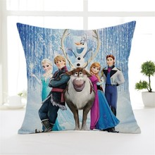 Pillowcase Cushion-Cover Sofa Frozen Decorative/nap Elsa-Anna Princess Disney Cartoon