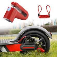 Bicicleta scooter bloqueio anti-roubo freios a disco bloqueio com fio de aço para rodas de skate elétrico freio de segurança da bicicleta
