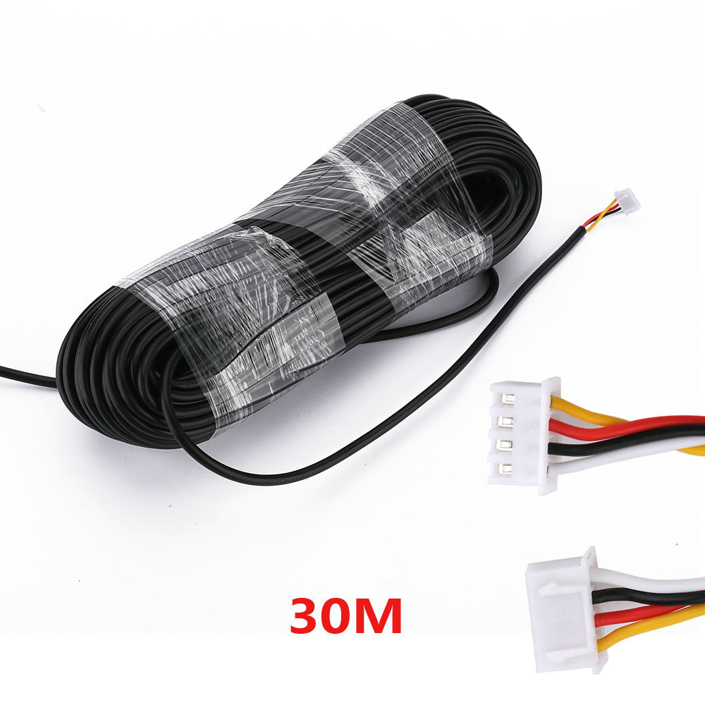 30M 2.54*4P 4 Wire Cable For Video Intercom Color Video Door Phone Doorbell Wired Intercom
