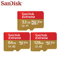 Originale SanDisk Extreme Micro SD Card da 128GB 64GB 32GB SDHC SDXC A2 U3 V30 Scheda di Memoria Max 160 MB/s Microsd Con Adattatore SD