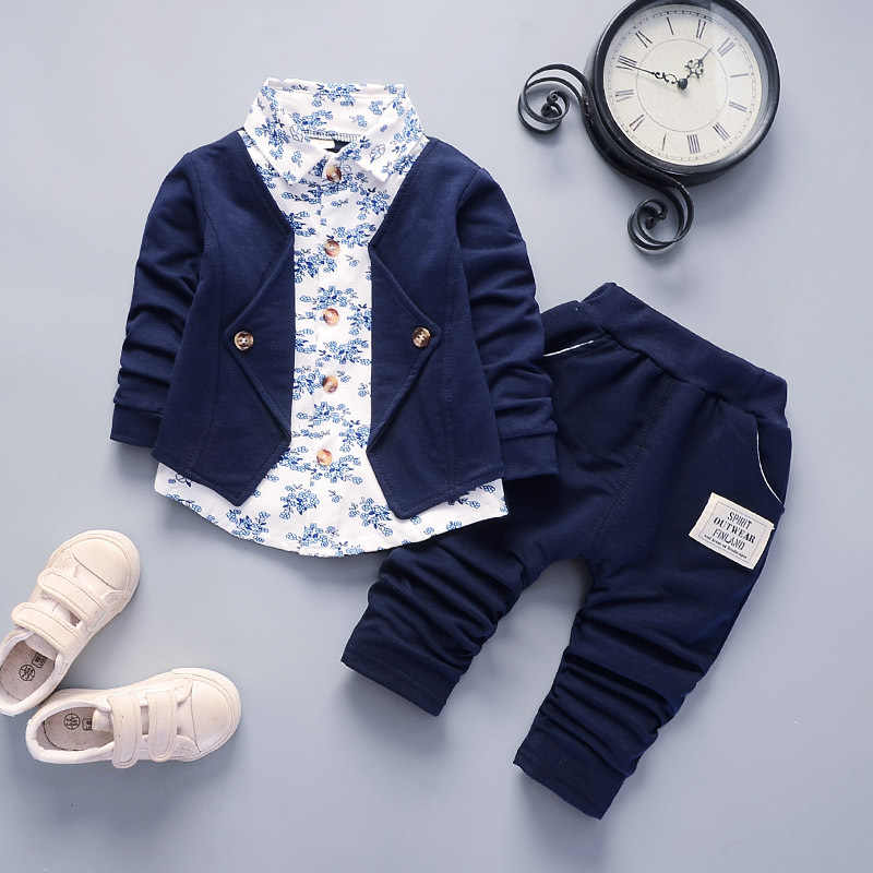 Anak Anak Musim Gugur Musim Dingin Anak Laki-laki Sport Perapi Anak Laki-laki Pakaian Anak Laki-laki Set Anak-anak Pakaian Jaket Denim + Kaos + Jeans 3Pcs Pakaian
