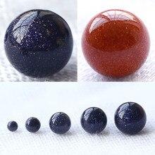 Aaa espaçador solto para fazer jóias, acessórios para pulseira diy, pedra de areia azul e natural 6/8/10/12mm 15