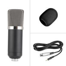 Micrófono condensador de alta sensibilidad para grabación de sonido en estudio, micrófono de bajo ruido chapado en oro, micrófono duradero firme