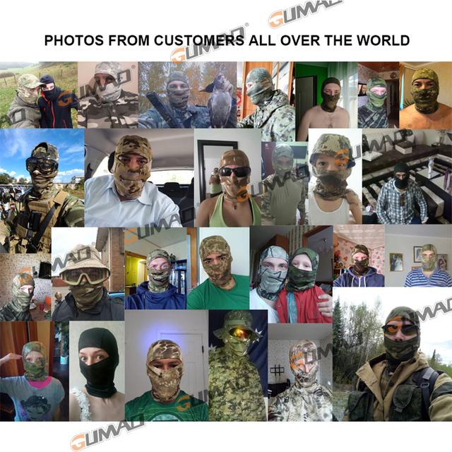 Multicam Camouflage Balaclava Full Face Scarf Mask Hiking Cycling Hunting Army Bike Military Head Cover Tactical Airsoft Cap Men 3