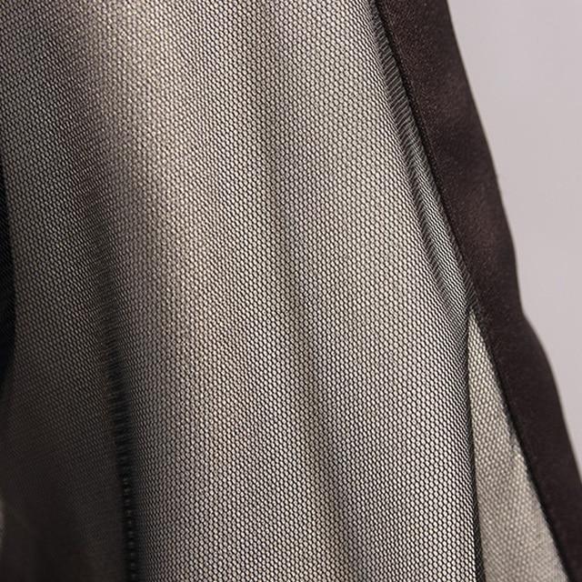 Large Plus Size L- 5XL Fashion Sport Dress Women Contrast Color Long Sleeve Autumn Bodycon A Line Dress Drawstring Sportwear 6