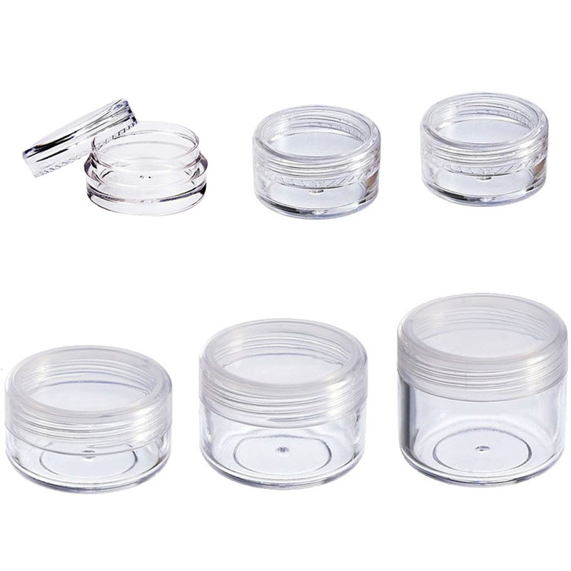 20pcs/lot 2g 3g 5g 10g 20g Portable Plastic Cosmetic Empty Jars Clear Bottles Eyeshadow Makeup Cream Lip Balm Container Pots