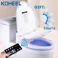 KOHEEL smart wc sitz abdeckung led licht fernbedienung smart wc sitz heizung bidet wc sitz bad intelligente wc-sitz deckel