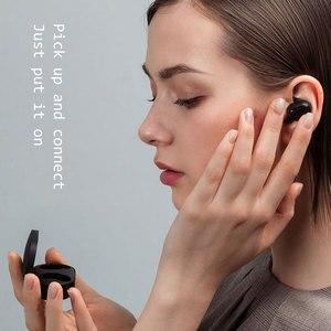 Image 3 - Xiaomi Redmi Airdots 2 Wireless Bluetooth 5.0 auricolare Stereo TWS con microfono vivavoce AI Control cuffie riduzione del rumore dei bassi