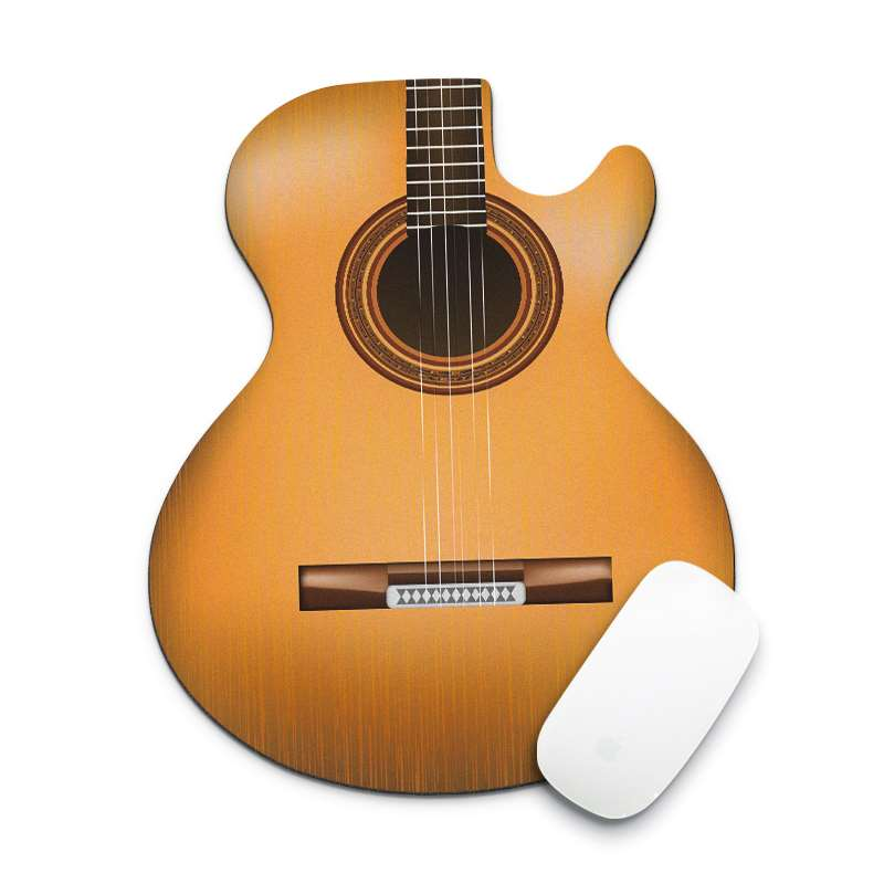 Fashion 18x22cm Guitar Shape Mouse Pad Gamer Rubber Durable Small Gaming MousePad Computer Office Notebook Keyboard Desk Mat