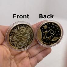 CO37 люмен Stellar XRP мы доверяем цифровым валютам Позолоченные памятные криптовалюты коллекционный отличный подарок