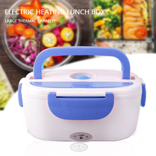 Portable Electric Heated Lunch Box 2 in 1 Car& Home US Plug/EU Plug Food-Grade Bento Boxes Stainless Steel Food Container 1 5l 110 220v portable electric lunch box food grade bento lunch box heating food container 2 in 1 food warmer eu us car plug