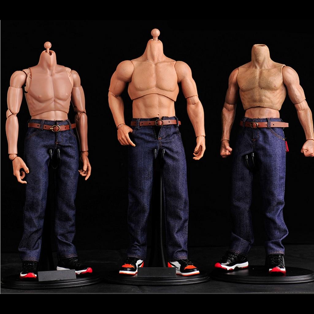 2pcs Men Clothing Dark Blue Jeans Pants for 1//6 12/'/' Enterbay Figures Body