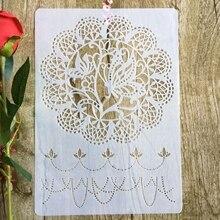 Мандала дурман цветы А4 29*21см DIY трафареты стены скрап-картина раскраска выбивая альбом декоративные шаблон бумаги карты