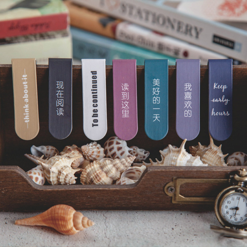 1Pc Kawaii Metal Bookmark Cute Simple Bookmarks Novelty Magnetic Book Mark For Kid Girls Gifts School Office Supplies Stationery