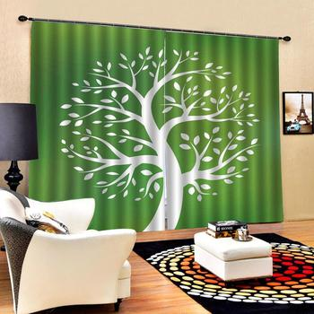 green curtains Luxury Blackout 3D Window Curtains For Living Room Bedroom Customized size Drapes Cortinas