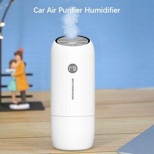 Mini portátil purificador de ar do carro umidificador para casa desktop ferro negativo purificação carvão ativado adsorbs poeira bactérias