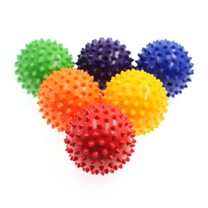 Durable PVC Spiky Massage Ball Trigger Point Sport Fitness Hand Foot Pain Relief Plantar Fasciitis Reliever Hedgehog 7cm Balls