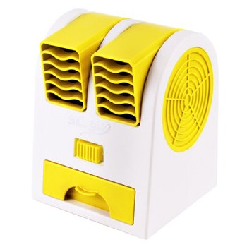 цена на 2 Ports Mini Fan Adjustable Angles Dual Air Outlet Air Conditioning Fan Cooling For Home Office Dormitory