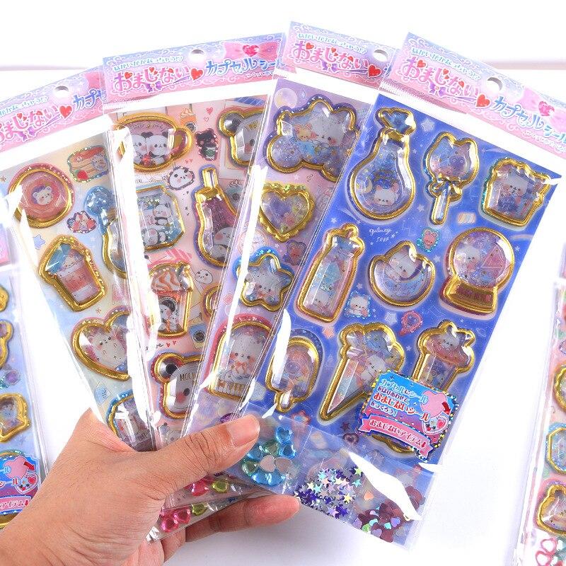 12 наборов/1 лот, маленькие двухслойные наклейки для дневника, планировщика, декоративные наклейки для мобильного телефона, наклейки для