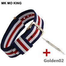 Casual canvas strap 14mm 16mm 18mm 20mm para dw pulseira de relógio ouro e prata fivela substituição cinta acessórios masculino feminino 201