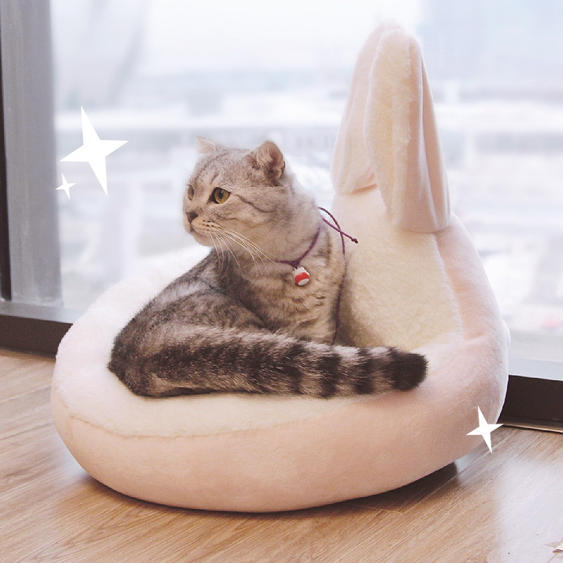 Pet Beds Lovely Rabbit Ear Shape Dog Bed Plush Material Cat Bed Pet Sleeping Sofa Cat Mats For Small Medium Puppy Animal Bedding
