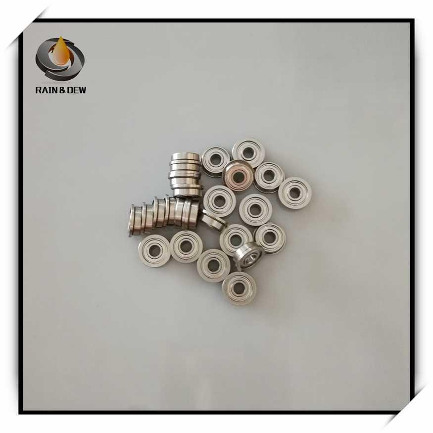 Brida de rodamiento de bolas 4 x 8 x 3 mm, apantallado, cromado, 5 unidades MF84ZZ