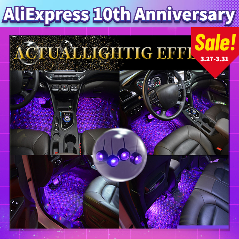 Car Styling LED RGB Atmosphere Colorful Interior Floor Foot Light For Chevrolet Chevy Corvette C4 Camaro Aveo Cruze Malibu Trax