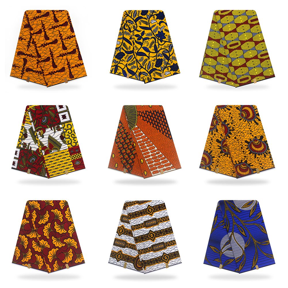 Ankara African Cotton Wax Prints Fabric For DiY Handmade Sewing Women Garment Dress Accessories Supplies
