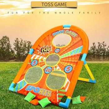 Dzieci rzucanie worków z piaskiem zabawki do gier interakcja rodzic-dziecko dzieci zabawki sportowe na świeżym powietrzu zajęcia na świeżym powietrzu gry na świeżym powietrzu prezenty tanie i dobre opinie CN (pochodzenie) Certyfikat 1659 Do rozwijania umiejętności chwytania poruszania się 58x56x76cm Target 3 lat Sandbag throwing