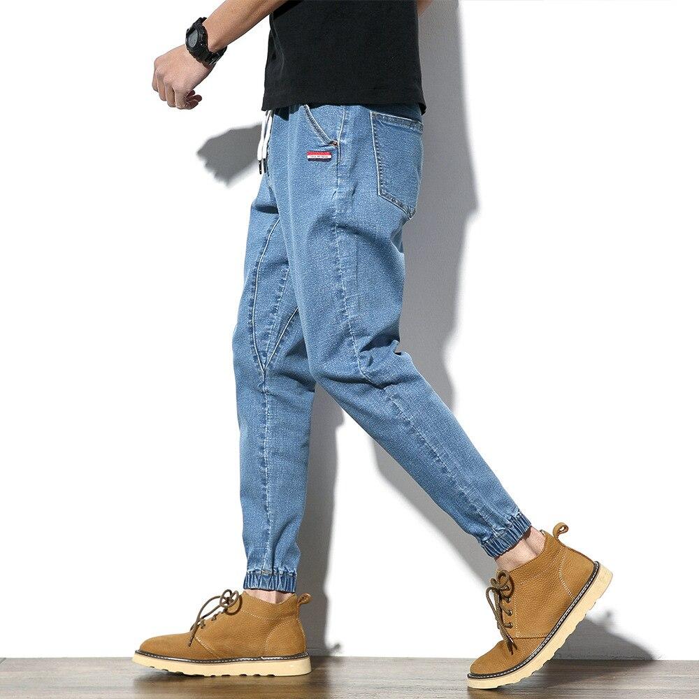 2018 Spring New Style Slim Fit Pants Jeans Men's Large Size Harem Trousers Korean-style Trend MEN'S Jeans