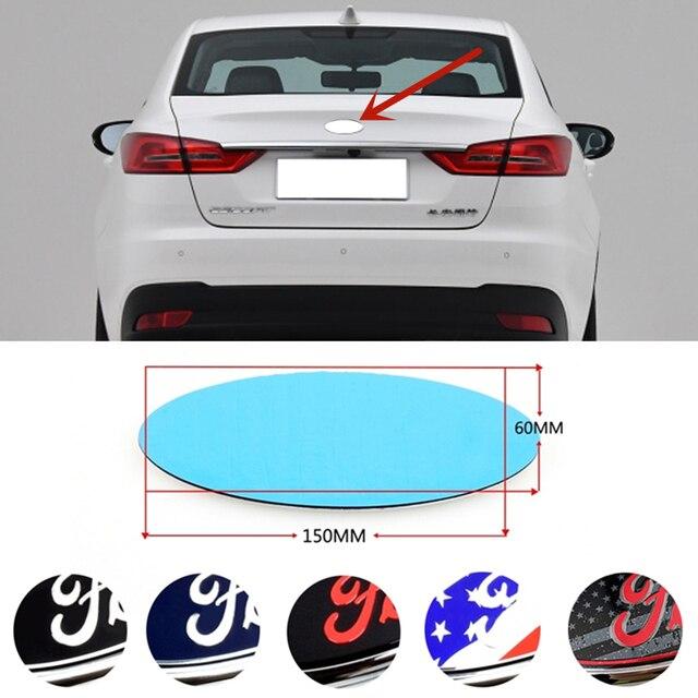Car Rear Trunk Emblem Sticker For Ford Logo Focus 3 Fiesta Mk6 Transit Ranger Kuga Mondeo Explorer Ecosport Galaxy Auto Exterior 1