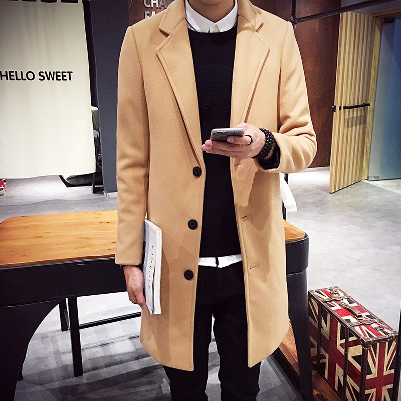 homens sobretudos casuais fino ajuste casaco masculino 2020