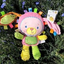 5 Styles Baby Toddler Rattles Toys Appease Doll Plush Animal Hand Bells Newborn Boys Girls Toy elephant/monkey/rabbit Soft Gifts