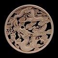 Деревянная рамка Onlay деревянная аппликация дерево ремесло естественное украшение цветок длинные листья деревянная мебель для кабинетов уг...