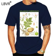 Potato T-Shirt Botanical Garden Plant Print Art Botany Bloom Fruit Flower Grow Classic Unique Tee Shirt(China)